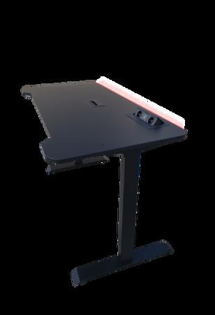 BIURKO GAMINGOWE dla GRACZY EasyDesk PRIMELED BLACK - sterowane elektrycznie