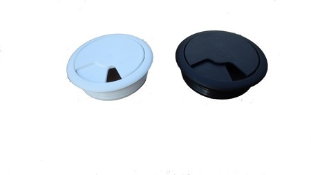 Biurko Gamingowe Standard czarno-szare z przelotką na kabel