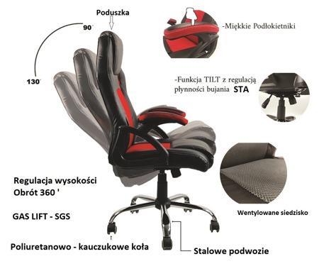 Fotel Gamingowy Carrera Grey Pro Edition
