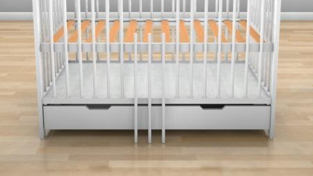 ŁÓŻECZKO NIEMOWLĘCE Z SZUFLADĄ 120 x 60 kolor biały
