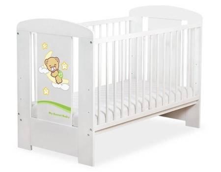 Łóżeczko Dobranoc 120x60cm Biało-zielone 5009-07-808