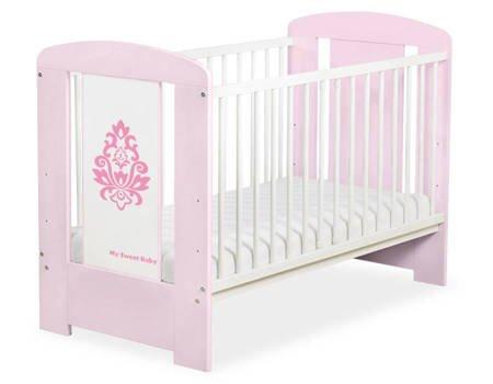 Łóżeczko Glamour 120x60cm Różowe 5015-08-2