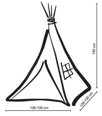 Namiot Tipi Jasna mięta + zawieszki pióra