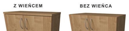 Regał biurowy, wysoki 217 cm, szerokość 80 cm Lisa XL,  kolor wg. wzornika