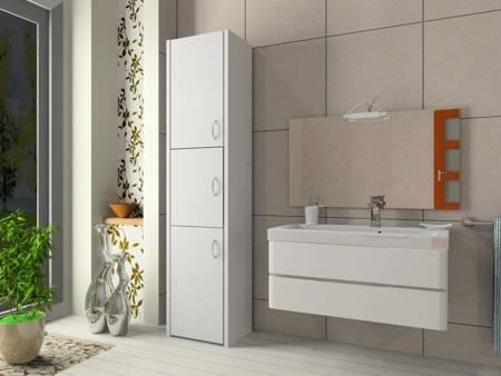 Słupek łazienkowy Adaś 3D 40 cm Biały
