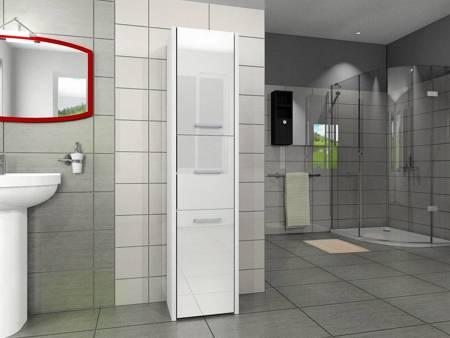 Słupek łazienkowy LUNA 40 3D Biały Połysk