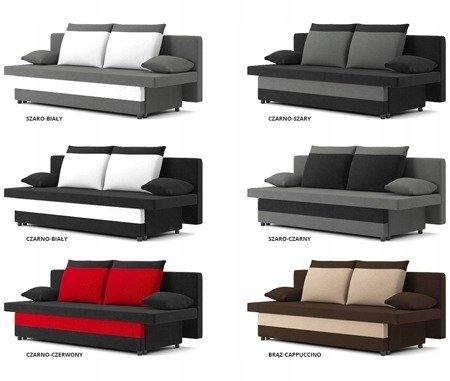 Sofa Sony 1 rozkładana sofa z funkcją spania kolor szaro-biały, 3 osobowa