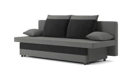 Sofa Sony 1 rozkładana sofa z funkcją spania kolor szaro-czarny, 3 osobowa