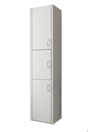 Szafka łazienkowa, słupek, kolor biały, Adaś 40 cm, 3 drzwiowa