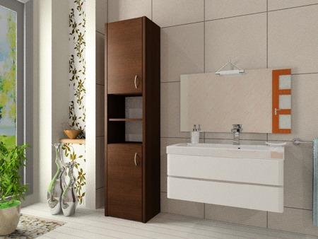 Szafka łazienkowa, słupek, kolor wenge, Adaś 40 cm, 2 drzwiowa